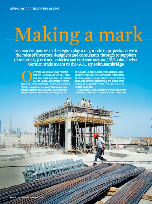 Lindemann Group - Construction Week: Making a mark 1