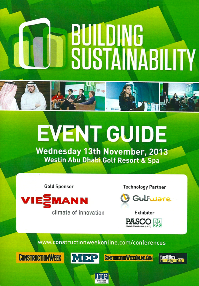 Lindemann Group - Tobias Lindemann at the Sustainability Conference, Abu Dhabi